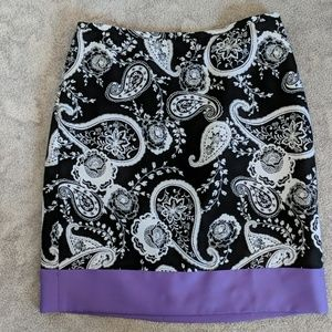 PAISLEY FULLY LINED SKIRT
